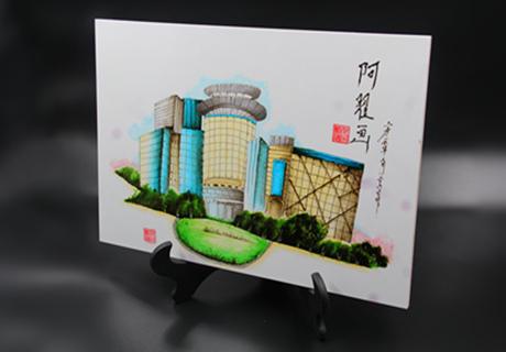 果酱画:繁华都市