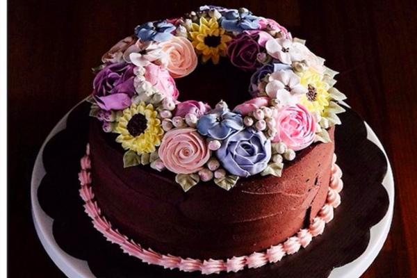 巧克力翻糖蛋糕