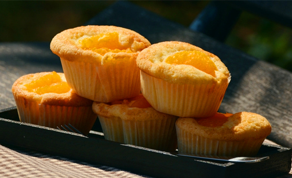 香橙纸杯蛋糕
