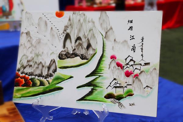 果酱画:烟雨江南