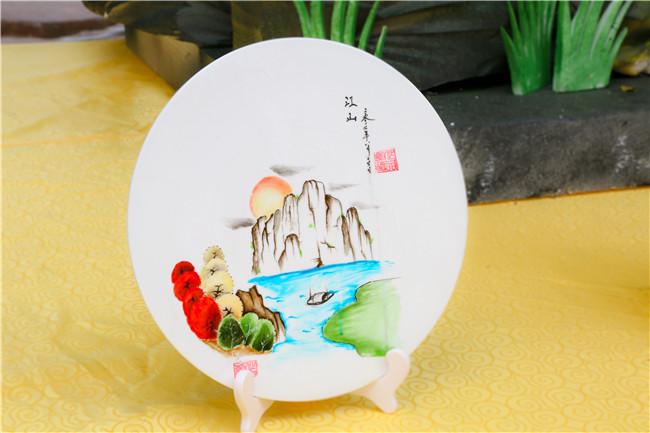 果酱画:秀丽江山